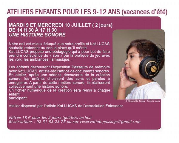 Atelier Enfants Passage Sainte-Croix